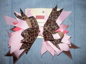 Pink & Leopard Flash Bow