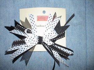 Black & White Flash Bow