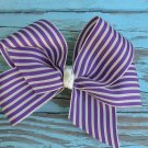 Purple Stripe Bow