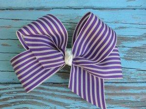 Purple Stripe Bow