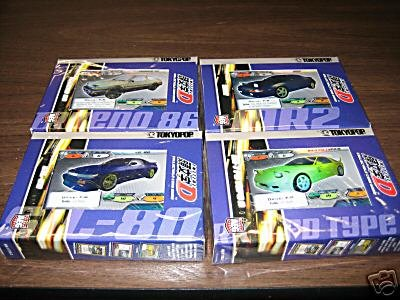 NEW 4 Sealed decks of Initial D ccg