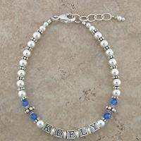 Mommy Bracelet: Beautiful in Blue