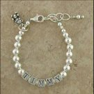 Baby Bracelet: Puppy and Pearls