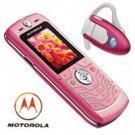 Motorola L6 Pink - Slvr Ultra Slim Design Cellular Mobile Phone Bluetooth Combo (unlocked)