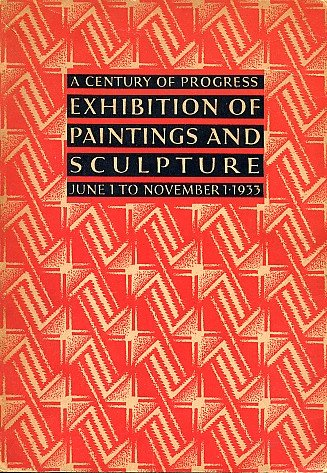 Chicago Art Institute Century of Progress Exhbition Catalog PAINTING SCULPTURE Book