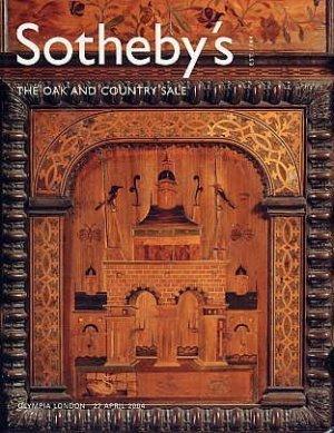 Furniture Tapestry ART BOOK Sotheby Auction Catalog OAK COUNTRY Folk Art Furniture Crafts