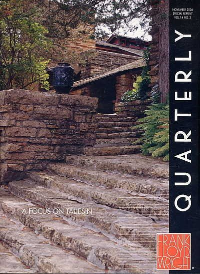 Frank Lloyd Wright Quarterly ARCHITECTURE BOOK Periodical TALIESIN History Design