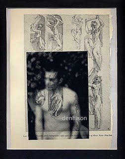 Traces and Remains ORIGINAL ART Gay Coloured Surrealism Found Object Photography Male Nudes