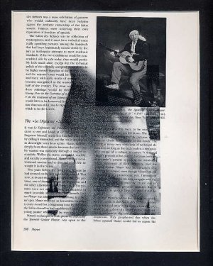 The Impressionist Original ART Found Object Surrealism Male Nude Photography Collage Gay Colour
