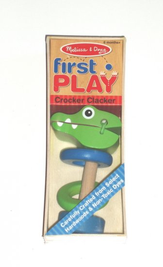 Melissa and Doug First Play Baby Infant Crocodile rattle NIB