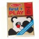 Melissa and Doug First Play Baby Infant Panda toy NIB