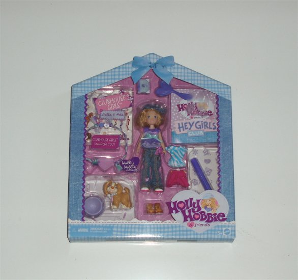 Holly Hobbie Clubhouse Girl Doll Pet accessories Friend
