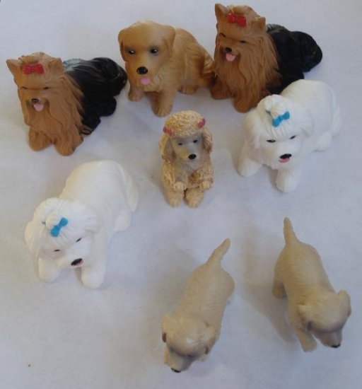 Lot of Little Pet Dog Pooches Puppy Toy