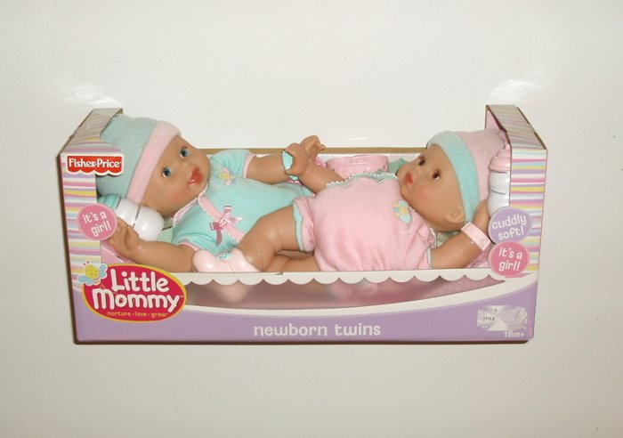 Fisher Price Little mommy Twin Baby Girl Newborn Dolls
