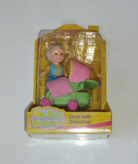 Fisher Price My First Dollhouse Stroll with Grandma NIP