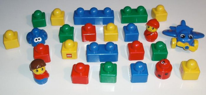Lego Duplo Baby Toddler Blocks Plane Lot EUC