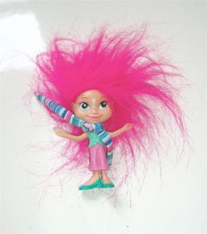 Happy Meal Troll Doll Girl Pink Hair Minty