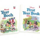 Lot of 4 Disney Year Book 1991, 1993, 1999, 2001