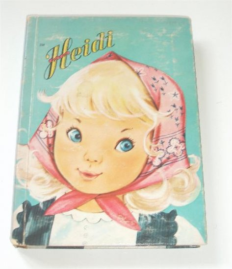 Heidi Hard Back Childrens Book reading Story 1943