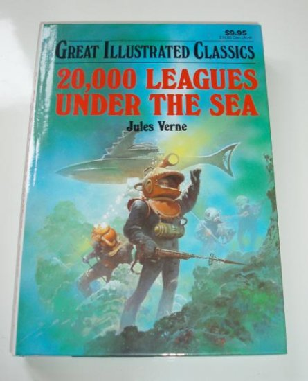 20,000 Leauges Under the Sea Jules Verne HB Book Illustrated
