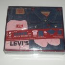 Levi's Jeans Infant Baby Starter Kit Gift set girl NEW