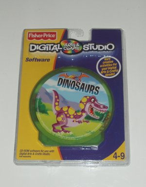 Fisher Price Digital Arts Crafts Studio Software Dinosaur