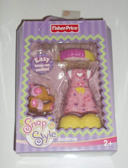 Fisher Price Snap n Style Bed Time Night Time Outfit
