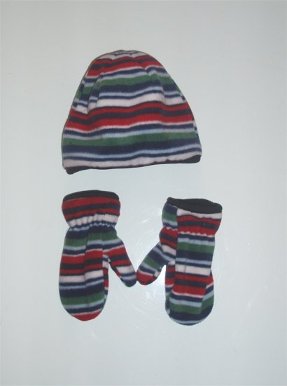 Infant Baby Boy Toddler Fleece Hat and Mittens NWOT
