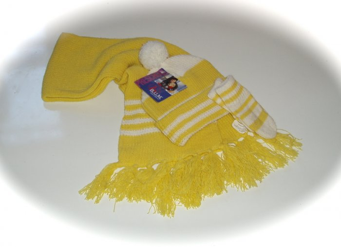 B.U.M Equipment Hat Scarf, Mittens Toddler NEW