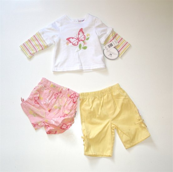 Infant Baby Girl 12 m 3 pc outfit pants shirt Vitamins NEW