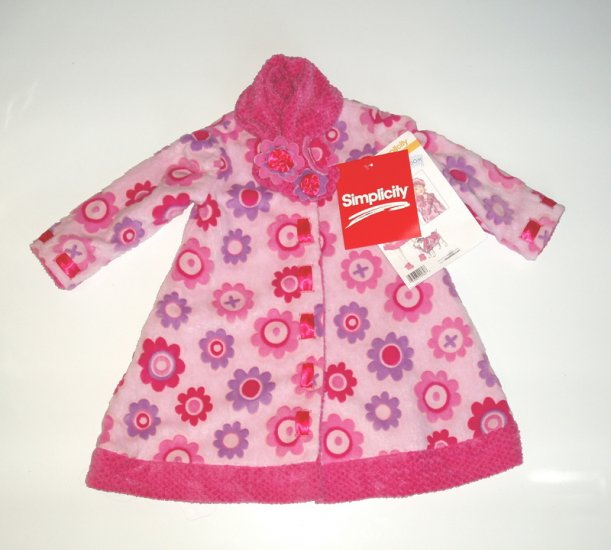 Daisy Kingdom Simplicity Girl Winter Fleece Coat 4