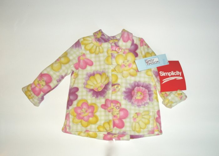 Simplicity Daisy Kingdom Girls Winter Fleece Coat 4