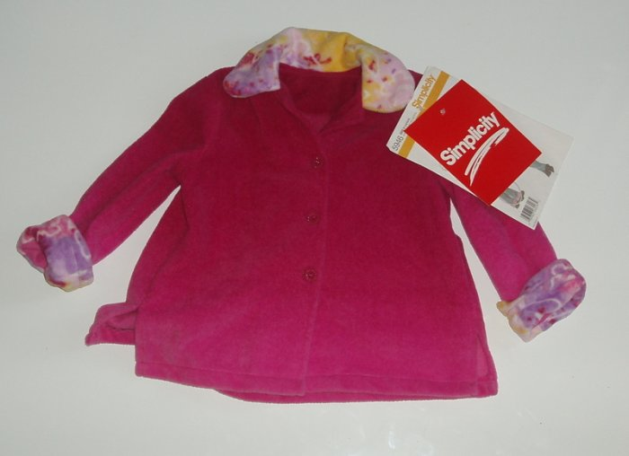 Daisy Kingdom Simplicity boutique Girl Fleece Coat 4
