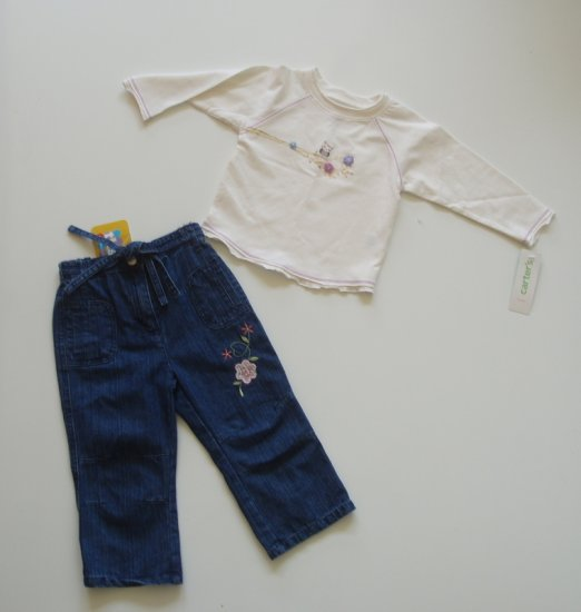 Infant Baby toddler Girl Fall shirt pants outfit 24 m