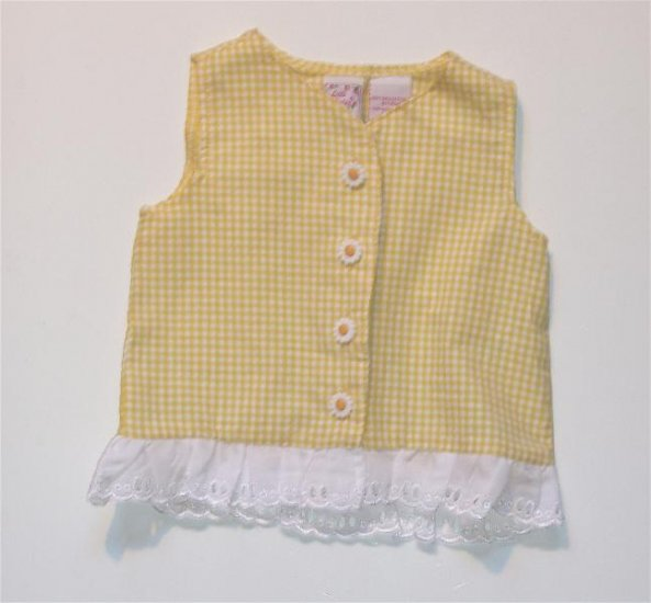 Infant Baby girl Gingham Summer Blouse 12 m NEW