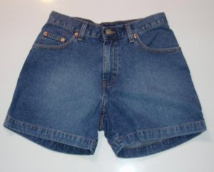 Guess Girls Junior Denim Jean Shorts 26 w EUC