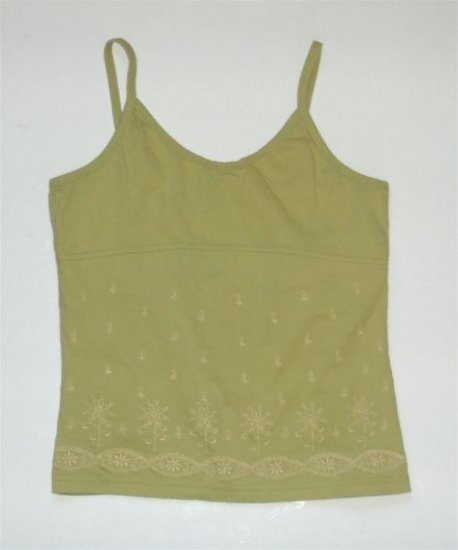 Green Gap Juniors Large Summer Tank Top Shirt EUC