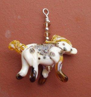 Lampwork horse pendant