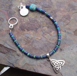 Celtic charm lapis bracelet