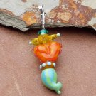 Tiddlywinks totem Lampwork Pendant, cute, original , fun