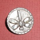 Victorian Brite Cut Pewter Dragonfly Button