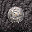 Vintage French Sailing Ship Picture Button