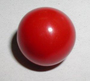 "Cherry Red Bakelite Ball Button 3/4"""