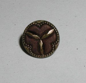 """Antique Austrian Tiny Button 7/16"""""""