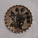 "Large Steel Cup Button 1 1/4"" Cut Steel Flower Blossoms"