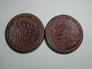 Pair of Vintage Big Plastic Coat Buttons