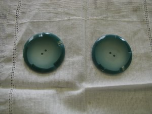 Pair of Vintage Big Plastic Coat Buttons