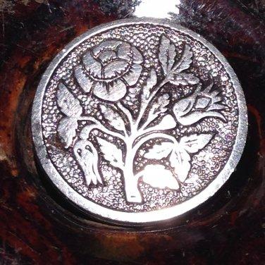 Antique Flat Steel Rose Button