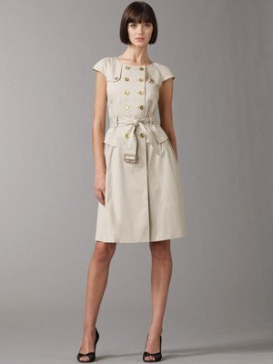 Burberry belted round-neck dress