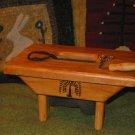 Rug Hooking Sewing Snippet & Tool Stool Wool